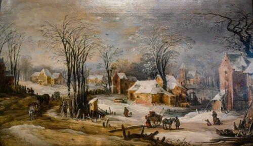 090218 Bruegel Pieter Inverno nel Giovane Villaggio