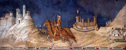 Simone Martini - Guidoriccio da Fogliano e l'assedio di Montemassi