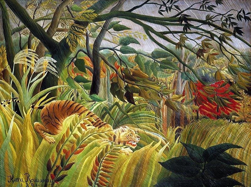 Henri Rousseau - Sorpresa, Tigre in una tempesta tropicale