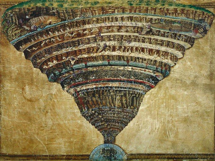 090386 Sandro Botticelli La mappa dell'Inferno
