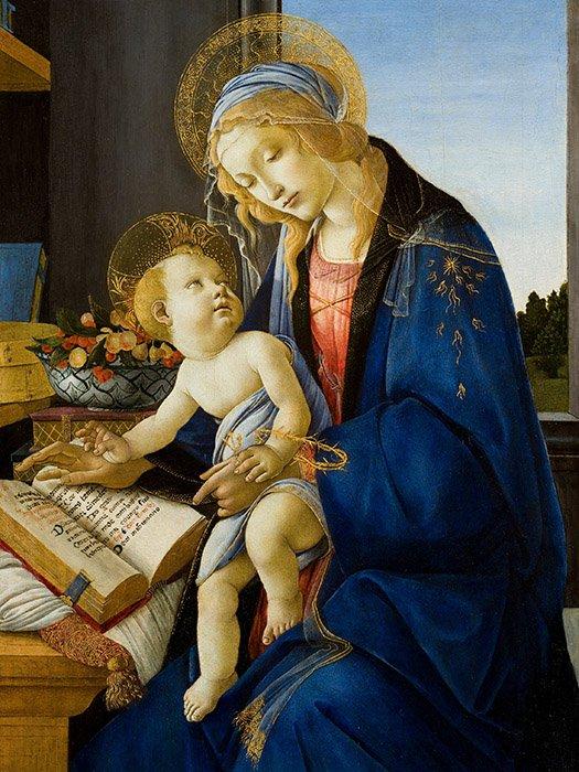Sandro Botticelli - Madonna del Libro