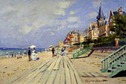 Claude Monet - La spiaggia di Trouville