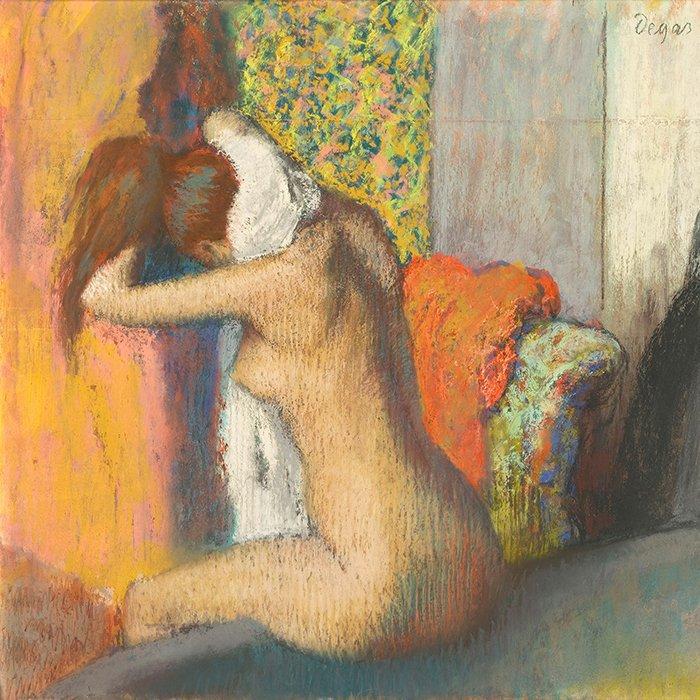 Edgar Degas - Donna si asciuga il collo