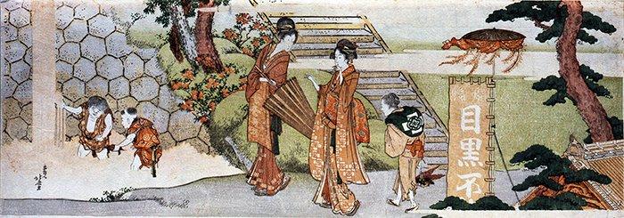 090416 Hokusai-Visita Tempio Meguro