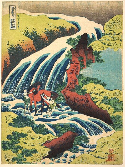 Katsushika Hokusai - La cascata di Yoshino