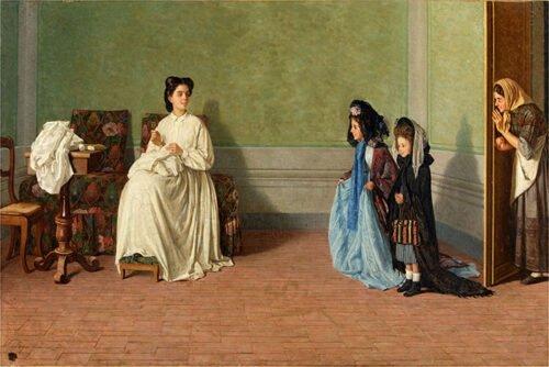 Silvestro Lega - Le bambine che fanno le signore