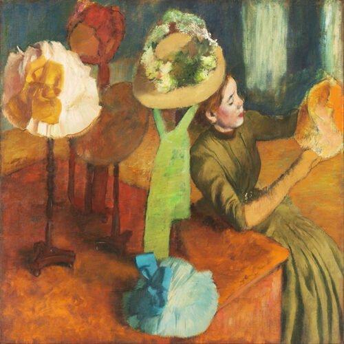 Edgar Degas - Nel negozio di cappelli
