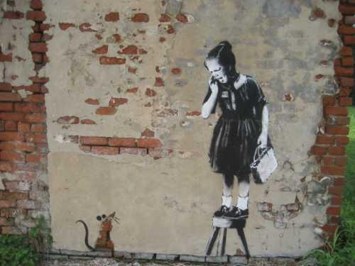 Banksy - Bambina e topo
