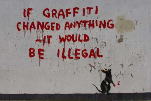 Banksy - Topo e graffito