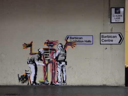 Banksy - Controllo di polizia