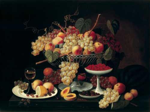 Severin Roesen - Still life with fruit I