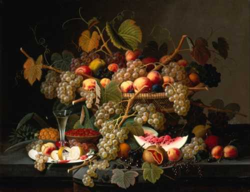 Severin Roesen - Still life with fruit II