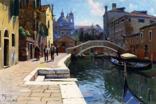 Peder Mørk Mønsted - Venezia canale