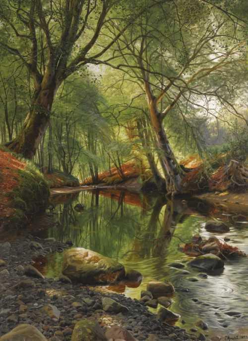 Peder Mørk Mønsted - A woodland stream
