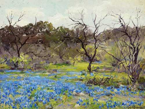 Julian Onderdonk - Fiori blu in primavera