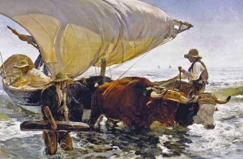Joaquin Sorolla - The return from fishing