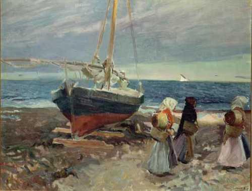 Joaquin Sorolla - Pescadoras en la playa de Valencia