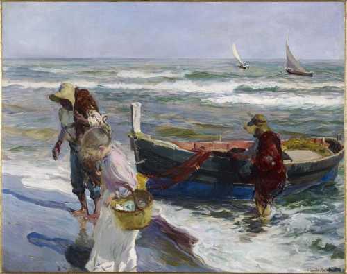 Joaquin Sorolla - La llegada de la pesca