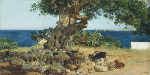 Joaquin Sorolla - L'albero di carruba