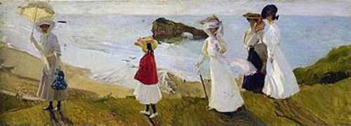 Joaquin Sorolla - Lighthouse walk at Biarritz