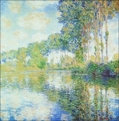 Claude Monet - Pioppi Sulla Riva dell'Epte