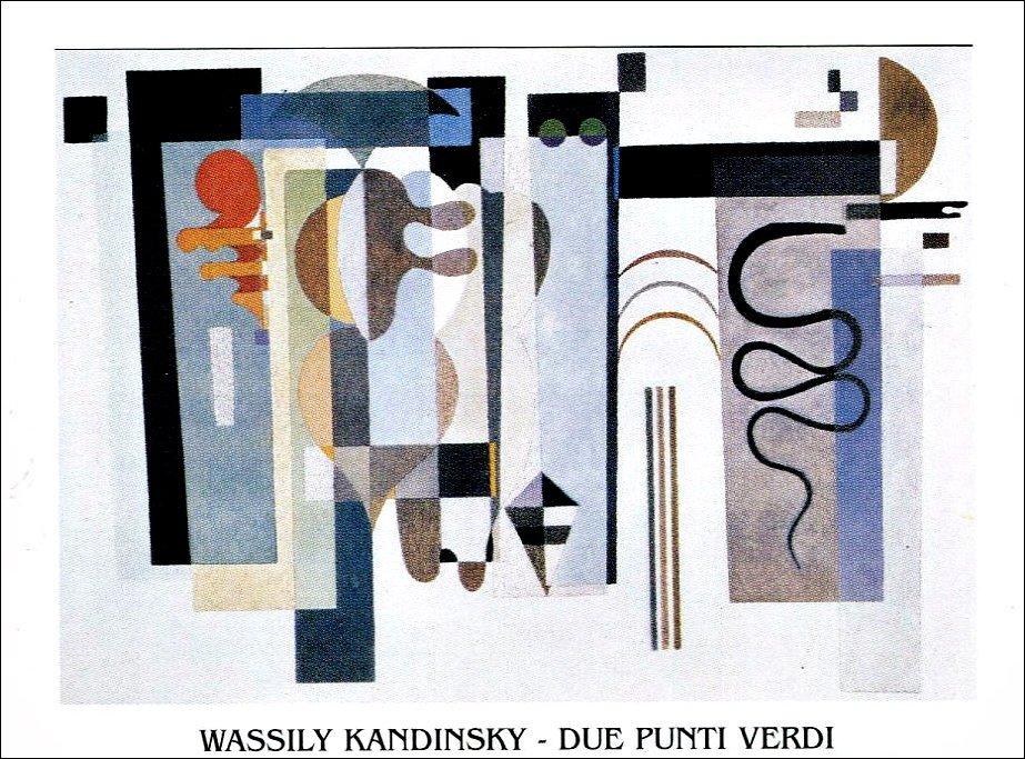 Vasilij Kandinsky - Due punti verdi