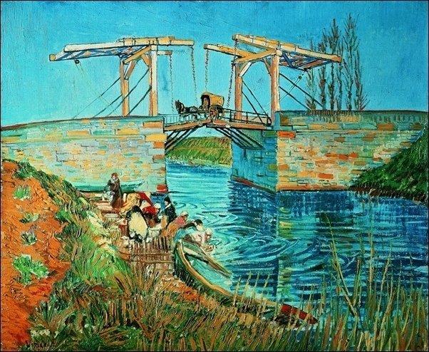 33145 Van Gogh Le Pont De Langlois Aux Lavandries