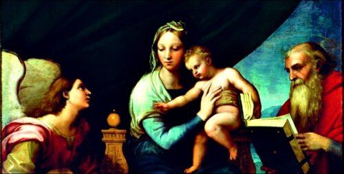 Raffaello - La Sacra Famiglia con Raffaello, Tobia