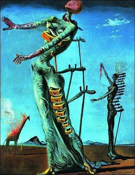 Salvador Dalì - Girafe en feu