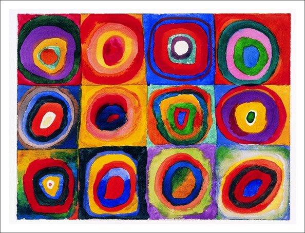 Vasilij Kandinsky - Farbstudie quadrate