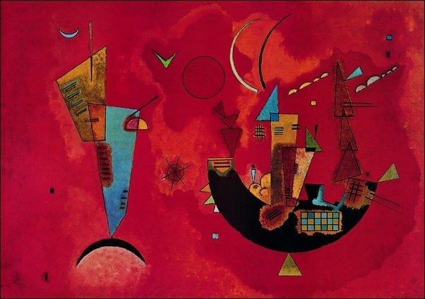 Vasilij Kandinsky - Con e contro (serigrafia su cotone gr. 500)