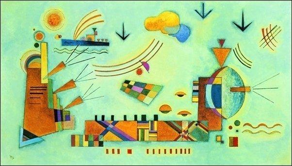 Vasilij Kandinsky - Dolce evento (serigrafia su cotone gr. 500)