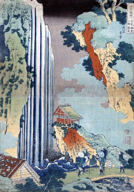 090149 Hokusai Cascata di Ono