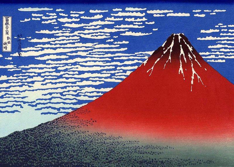 090150 Hokusai Fuji Rosso