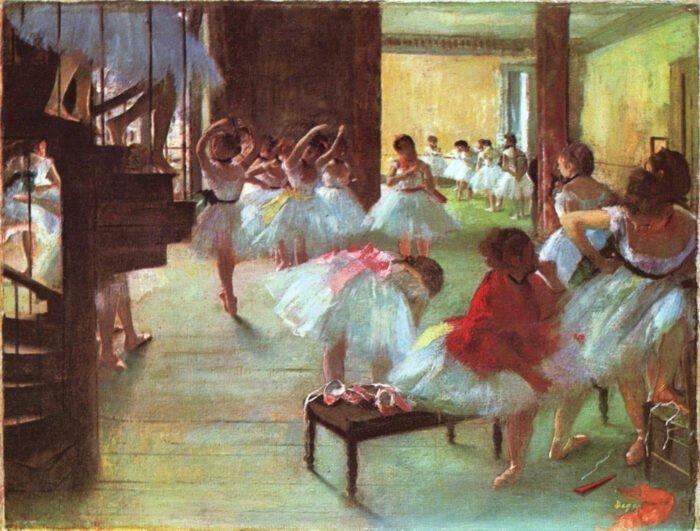 090199 Edgar Degas - Ballet School