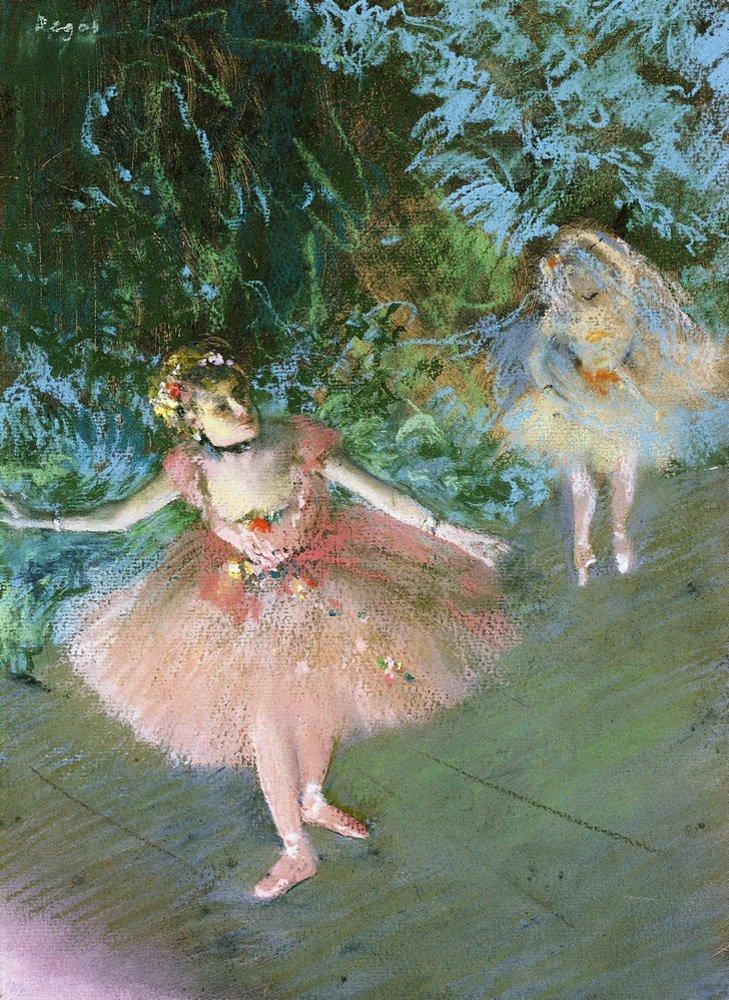 Edgar Degas - Ballerine danzano sul palco
