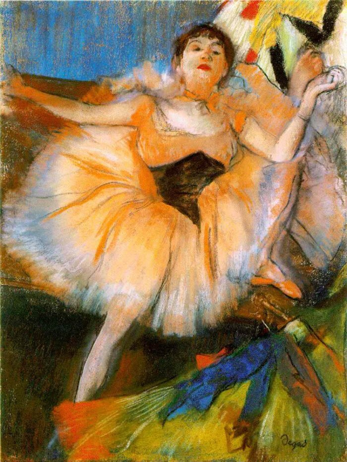 090206 Edgar Degas - Seated Dancer