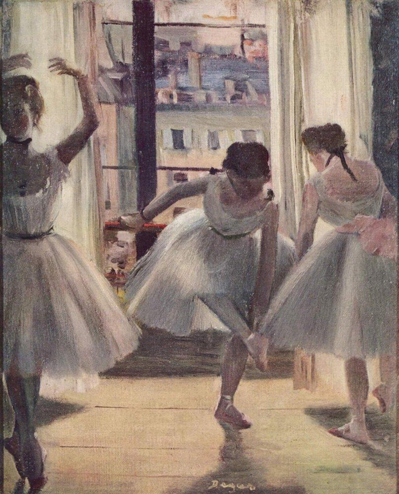 090209 Edgar Degas - Three Dancers in an Exercise Hall