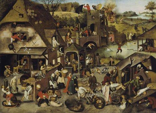 090213 Bruegel Pieter Proverbi Fiamminghi