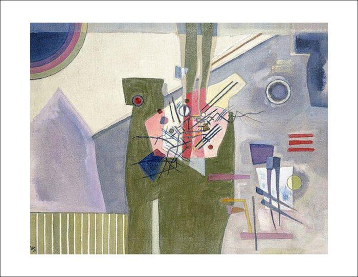 Vasilij Kandinsky - Rosa im Grau