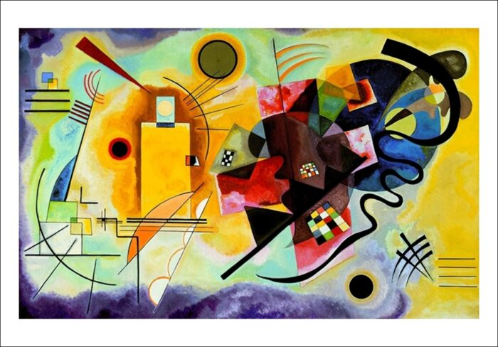 Vasilij Kandinsky - Giallo, rosso, blu
