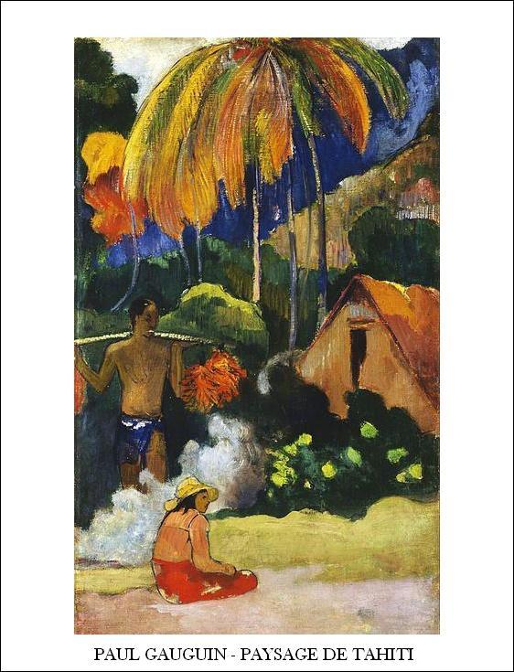 32822 Gauguin Paysage De Tahiti
