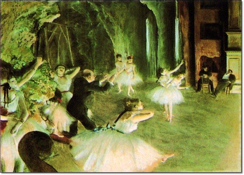32699 Degas The Rehearsal On Stage