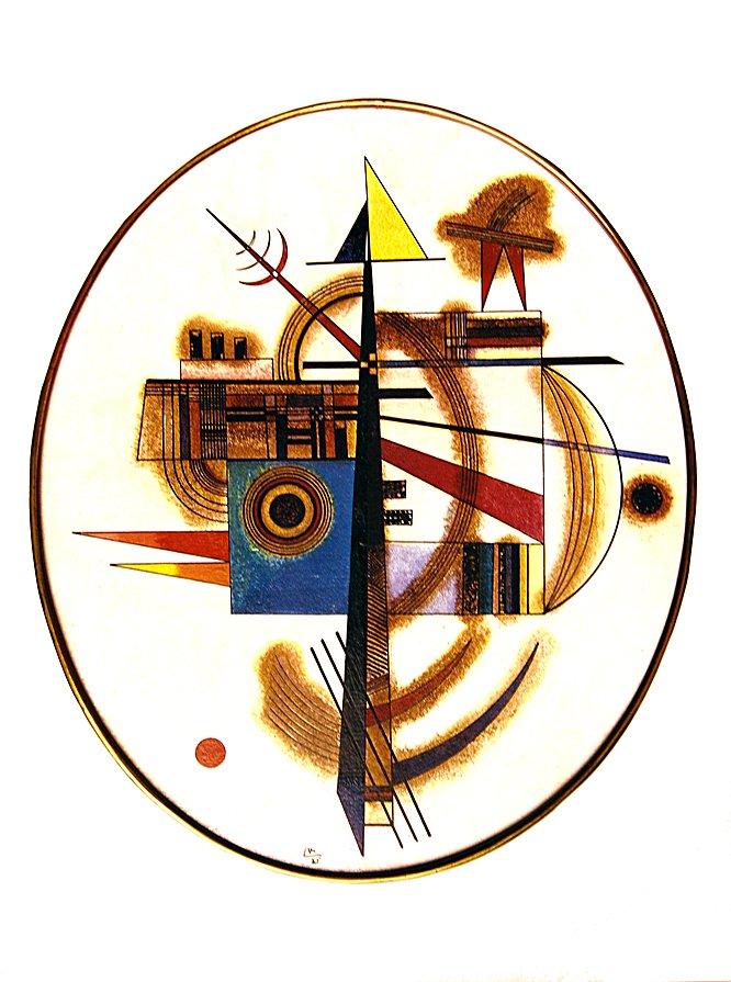 Vasilij Kandinsky - Composizione ovale 1925