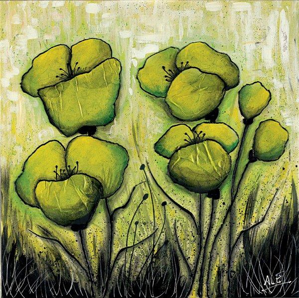50510 Ale Green Flowers
