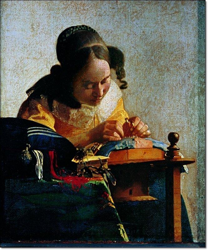 Jan Vermeer - Merlettaia