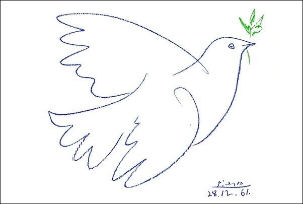 60821 Picasso Colomba Blu - misura unica solo su carta o su pannello
