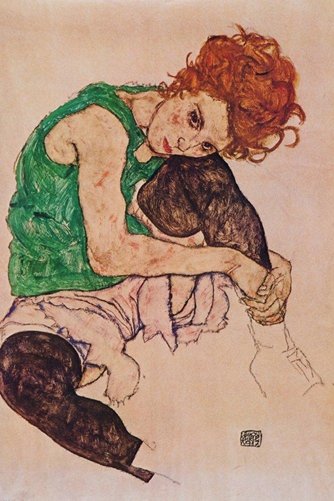 Egon Schiele - Donna seduta