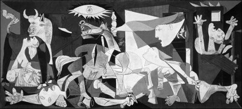 70163 Pablo - Picasso Guernica solo le due misure standard su carta o su pannello