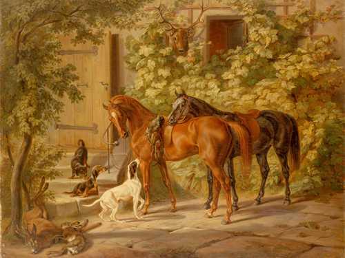 Adam Albrecht - Cavalli al portico